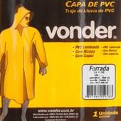 Capa De Pvc C/ Forro G Amarela - Vonder