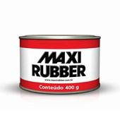 COLA PLÁSTICA CINZA COM ENDURECEDOR - 400G MAXI RUBBER