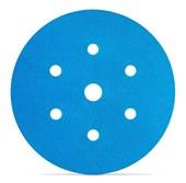 """DISCO ORBITAL 150MM 6"""" 321U BLUE 7 FUROS - GRÃO 220 3M"""