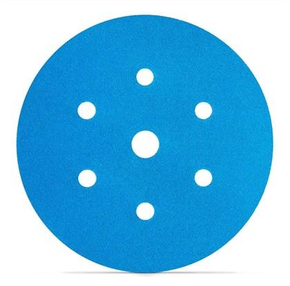 """DISCO ORBITAL 150MM 6"""" 321U BLUE 7 FUROS - GRÃO 500 3M"""