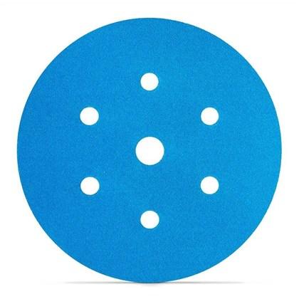 """DISCO ORBITAL 150MM 6"""" 321U BLUE - GRÃO 180 3M"""