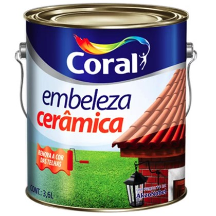 ESMALTE BRILHANTE EMBELEZA CERÂMICA - 3,6L CORAL