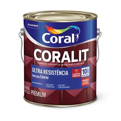 Esmalte Sintético Acetinaddo Gelo Coralit Ultra Resistência 3,6L Coral