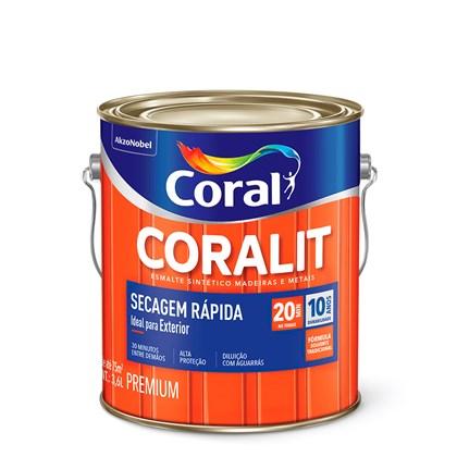 Esmalte Sintético Acetinado Branco Gelo Secagem Rápida 3,6L Coral