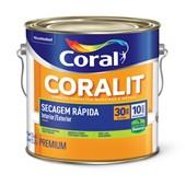 Esmalte Sintético Acetinado Branco Gelo Secagem Rápida Base Água 3,6L Coral