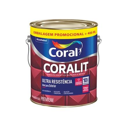 Esmalte Sintético Brilhante Branco Coralit Ultra Resistência 4L Coral