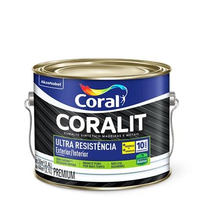 Esmalte Sintético Brilhante Branco Ultra Resistência Base Água 2,4L Coral