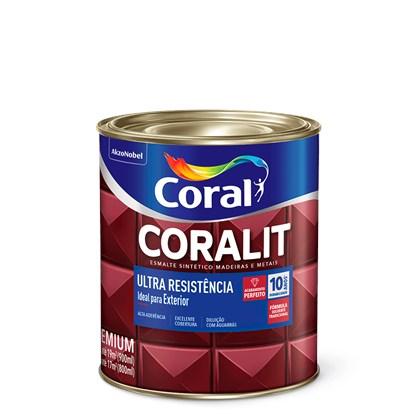 Esmalte Sintético Brilhante Cinza Escuro Coralit Ultra Resistência 900ml Coral