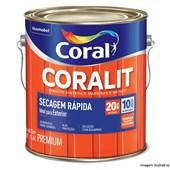 Esmalte Sintético Brilhante Coralit Secagem Rapida Azul Del Rey 3,6L Coral