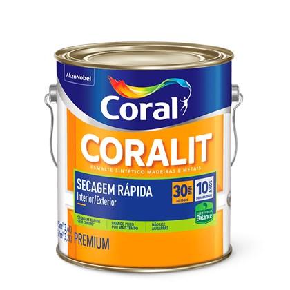 Esmalte Sintético Brilhante Coralit Secagem Rápida Base Água 3,6L Coral