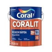 Esmalte Sintético Brilhante Coralit Secagem Rápida Branco - 3,6L Coral
