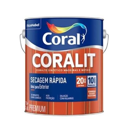 Esmalte Sintético Brilhante Coralit Secagem Rapida Platina 3,6L Coral