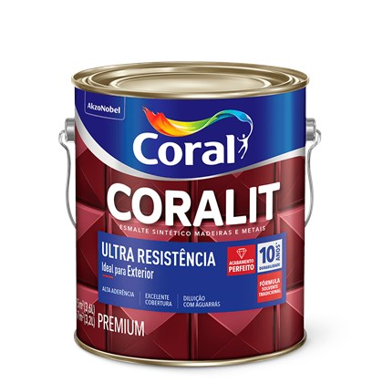 ESMALTE SINTÉTICO BRILHANTE CORALIT ULTRA RESISTÊNCIA AZUL FRANÇA - 3,6L CORAL
