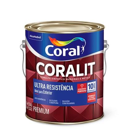 ESMALTE SINTÉTICO BRILHANTE CORALIT ULTRA RESISTÊNCIA CINZA ESCURO - 3,6L CORAL