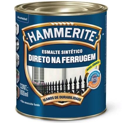 ESMALTE SINTÉTICO BRILHANTE HAMMERITE PRATA - 800ML CORAL