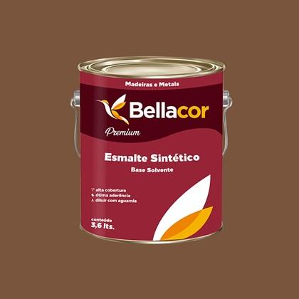 ESMALTE SINTÉTICO BRILHANTE MARROM CONHAQUE - 3,6L BELLACOR