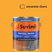 Esmalte Sintético Brilhante Pintou Secou Amarelo Ouro Suvinil 3,6L