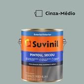 Esmalte Sintético Brilhante Pintou Secou Cinza Médio Suvinil 3,6L