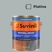 Esmalte Sintético Brilhante Pintou Secou Platina Suvinil 3,6L