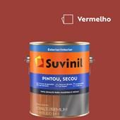 Esmalte Sintético Brilhante Pintou Secou Vermelho Suvinil 3,6L