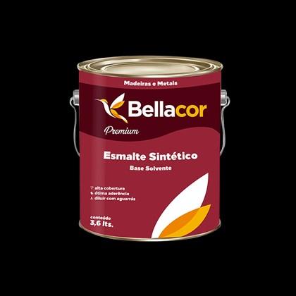 ESMALTE SINTÉTICO BRILHANTE PRETO - 3,6L BELLACOR
