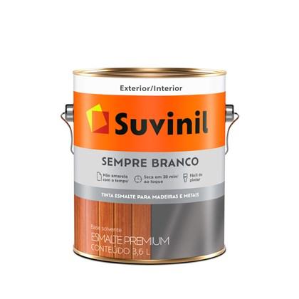 ESMALTE SINTÉTICO BRILHANTE SEMPRE BRANCO - 3,6L SUVINIL