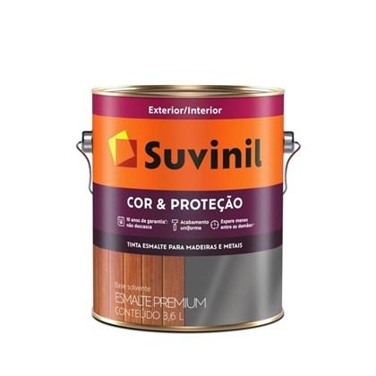 Esmalte Sintético Brilhante Suvinil Cor & Proteção Cinza Escuro 3,6L