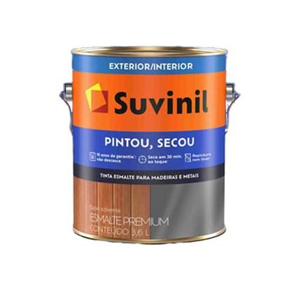 Esmalte Sintético Brilhante Suvinil Pintou Secou Branco 3,6L