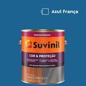 Esmalte Sintético Cor e Proteção Brilhante Azul França Suvinil 3,6L