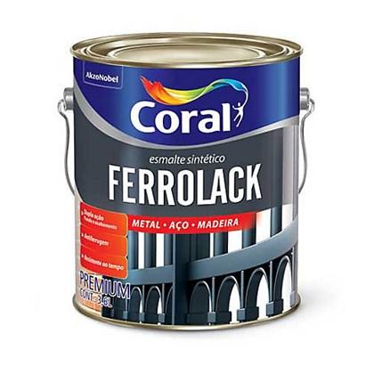 Ferrolack Antiferrugem Coralit Cinza 3,6L Coral