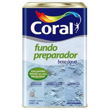 FUNDO PREPARADOR DE PAREDES BASE ÁGUA - 18L CORAL