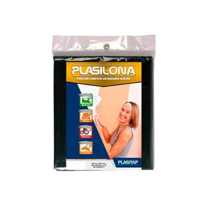 Lona Plástica Preta 3x3 Plasitap