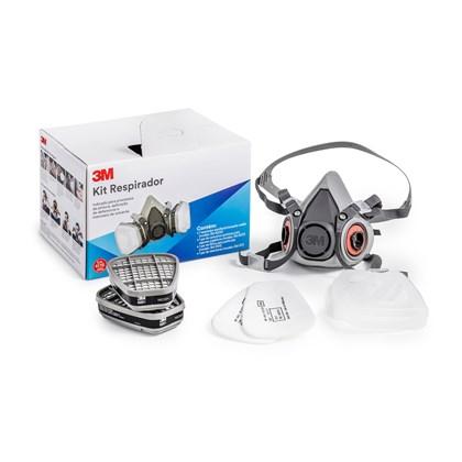 Máscara Respiratória 3M 6200 Com Filtros Para Pintura CA 4115  - TAM M