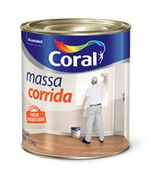 MASSA CORRIDA - 900ML CORAL