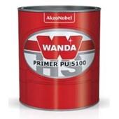 Primer PU 5100 Kit 5100+3093 Cinza Médio 900ml - Wanda