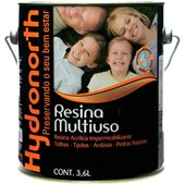 Resina Impermeabilizante Multiuso Brilhante Base Solvente Incolor 3,6L Hydronorth