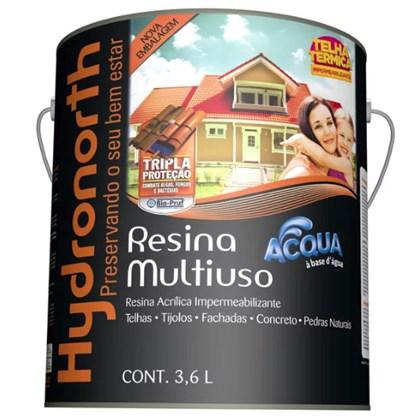 Resina Impermeabilzante Multiuso Brilhante Telha Cerâmica Acqua Incolor 3,6L Hydronorth