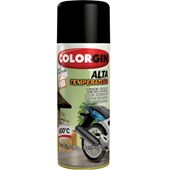 SPRAY PRETO FOSCO ALTA TEMPERATURA - 350ML COLORGIN