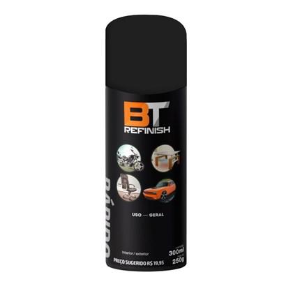 Spray Preto Fosco alta Temperatura 600º 300ml Bt Refinish