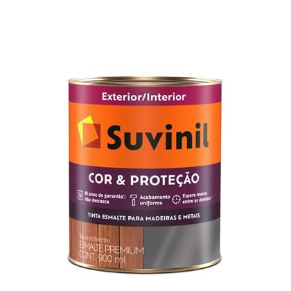 Suvinil Esmalte Sintético Brilhante Cor & Proteção 900ml - Cinza Escuro