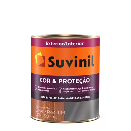 Suvinil Esmalte Sintético Brilhante Cor & Proteção 900ml - Platina