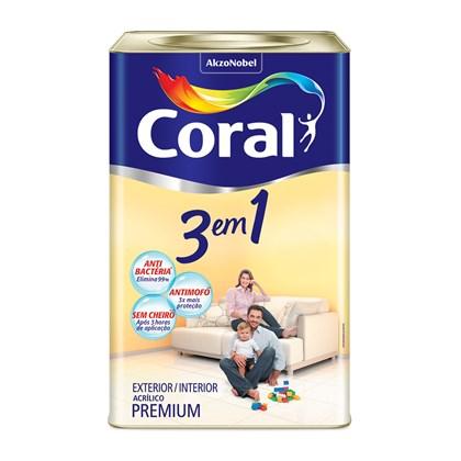 Tinta Acrilica 3 X 1 Branco Fosco 18L - Coral