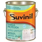 TINTA ACRÍLICA ACETINADA ANTI-BACTÉRIAS FAMÍLIA PROTEGIDA BRANCO - 3,6L SUVINIL