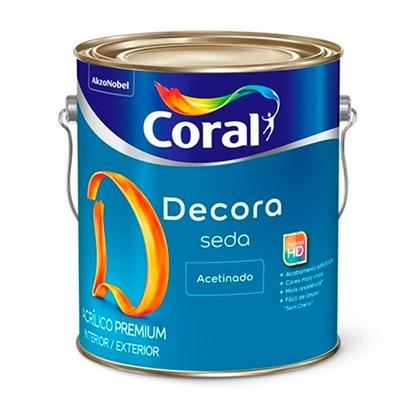 Tinta Acrilica Acetinada Branco Decora Seda 3,6L - Coral