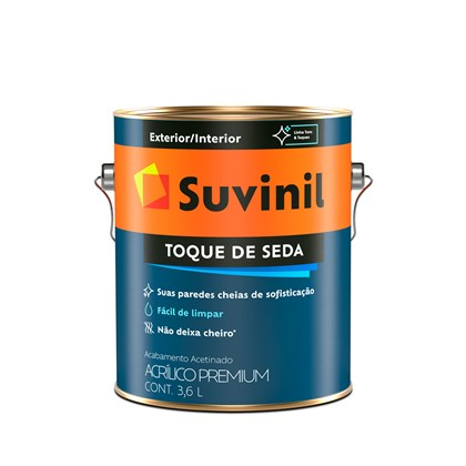 TINTA ACRÍLICA ACETINADA TOQUE DE SEDA BRANCO - 3.6L SUVINIL