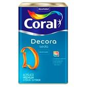 Tinta Acrílica Acetinado Branco Decora Seda 18L - Coral