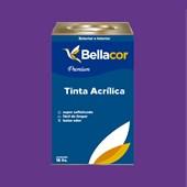 Tinta Acrílica Acetinado C25 Roxo Açaí 16L Bellacor