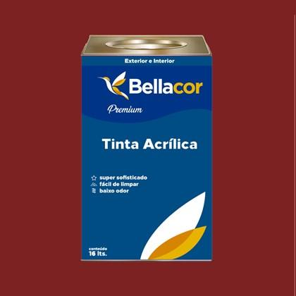 Tinta Acrílica Acetinado C37 Vermelho Sangue 16L Bellacor