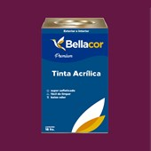 Tinta Acrílica Acetinado C62 Framboesa 16L Bellacor