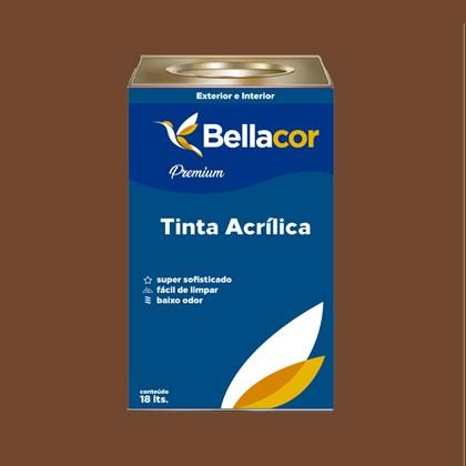 Tinta Acrílica Acetinado C98 Cacau 16L Bellacor